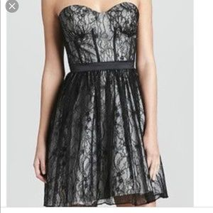 Aidan Mattox size 10 black lace cocktail dress